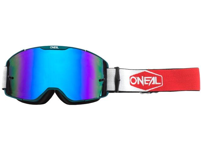 O'Neal B-20 Brille Plain teal/red-radium blue